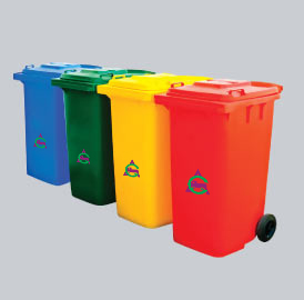 WASTE BINS  & PORTABLE CABINS